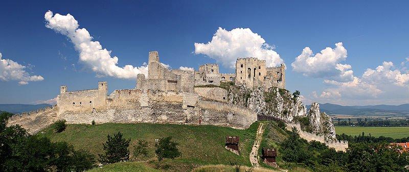 Castle ruins in Beckov, Slovakia