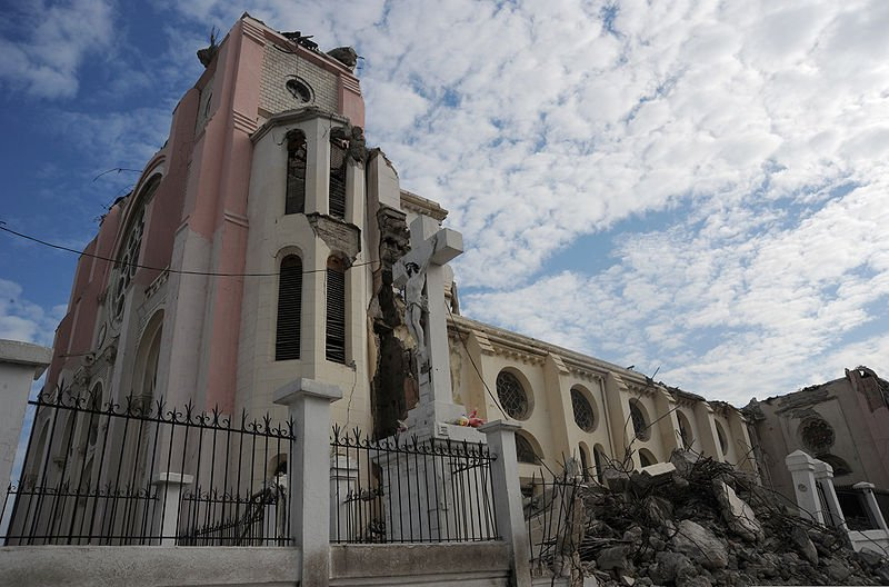Cathédrale Notre-Dame de Port-au-Prince, after the 2010 earthquake