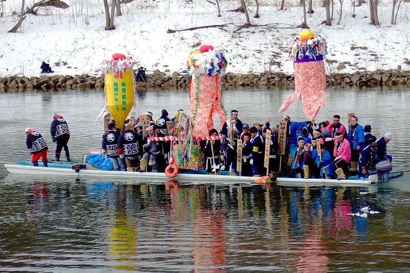 Ceremonial river crossing, Akita Prefecture