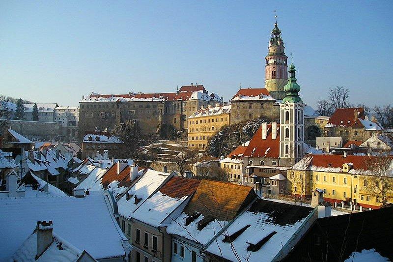 České Krumlov in winter, Czech Republic