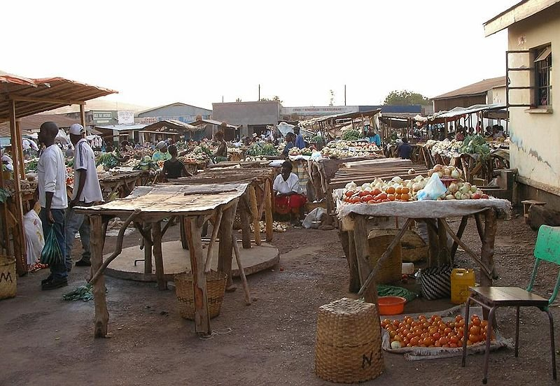 The northern vegetable market in Chipata, Zambia