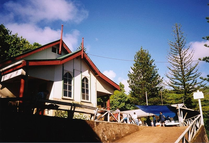 The church at Adamstown, Pitcairn Island