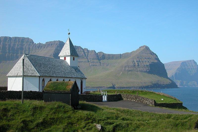 Church of Viðareiði on Viðoy, Faroe Island