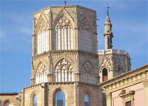 The Cimbori (octagonal tower) of the Cathedral of Valencia