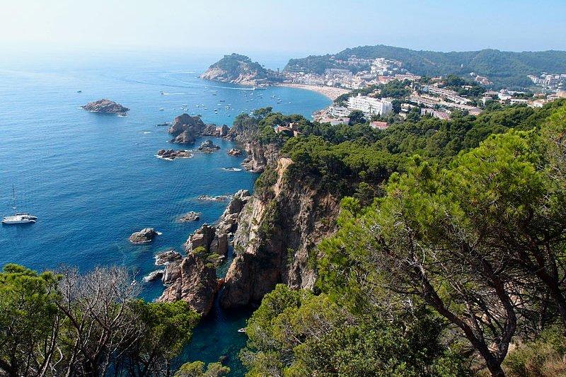 Coast of Tossa de Mar in Catalonia, Spain
