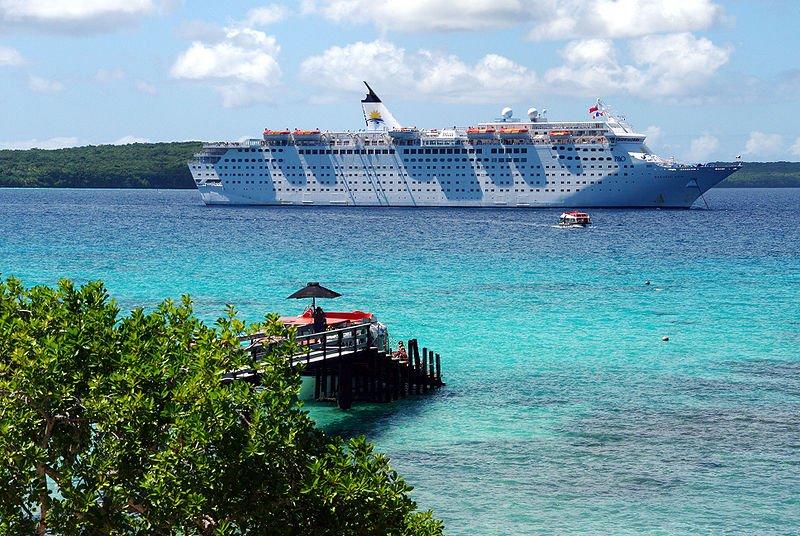 Cruise ship at Lifou, New Caledonia