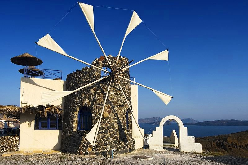 Windmill in the Cyclades Islands of Greece
