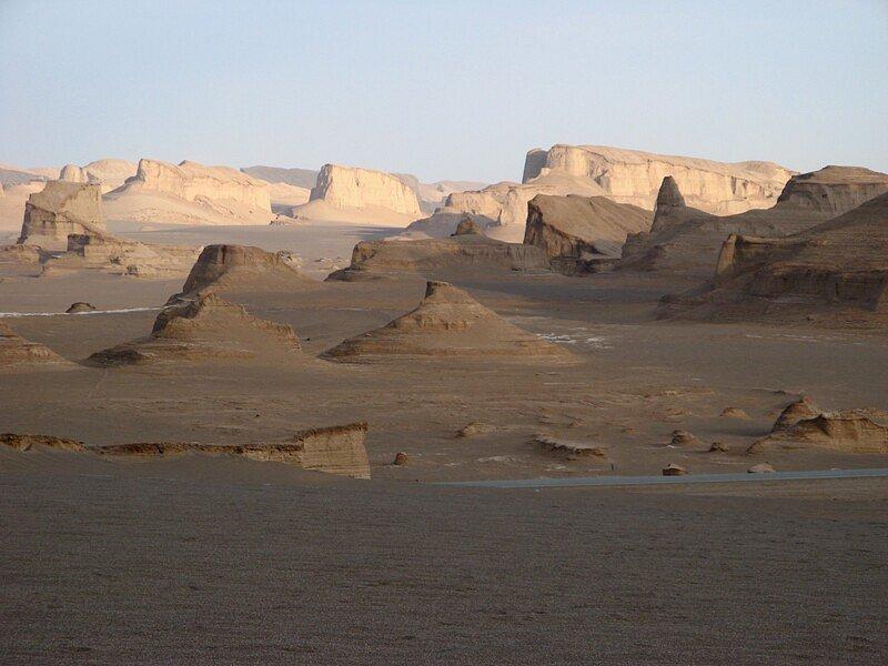 Dasht-e Lut desert in Kerman, Iran