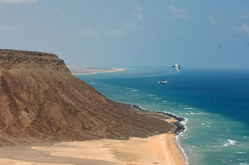 US jet fighters at the coast of Djibouti