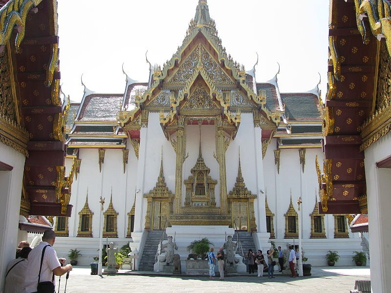 The Dusit Mahaprasat Palace, within the Grand Palace of Bangkok
