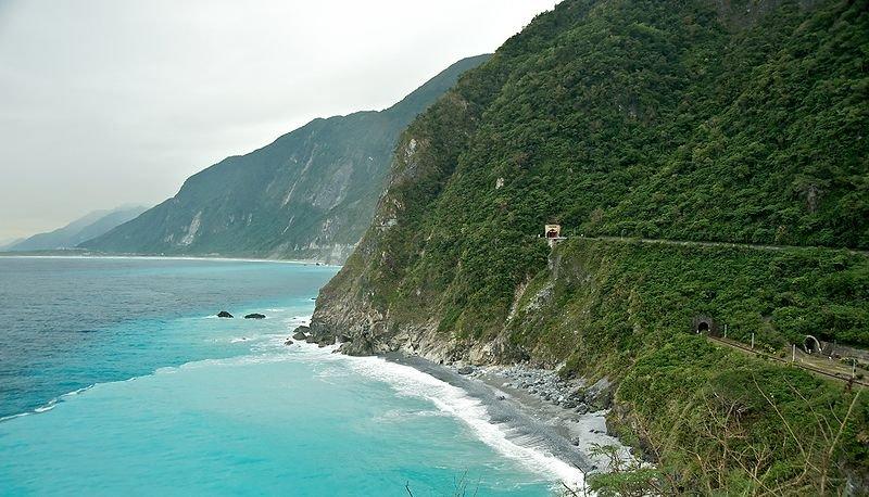 Cing Shui Cliffs at Su Hua Highway, east coast of Taiwan