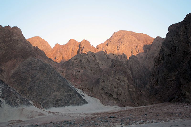 Eastern desert mountain range in Eritrea