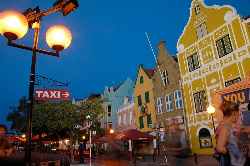 Evening in Willemstad, Curaçao