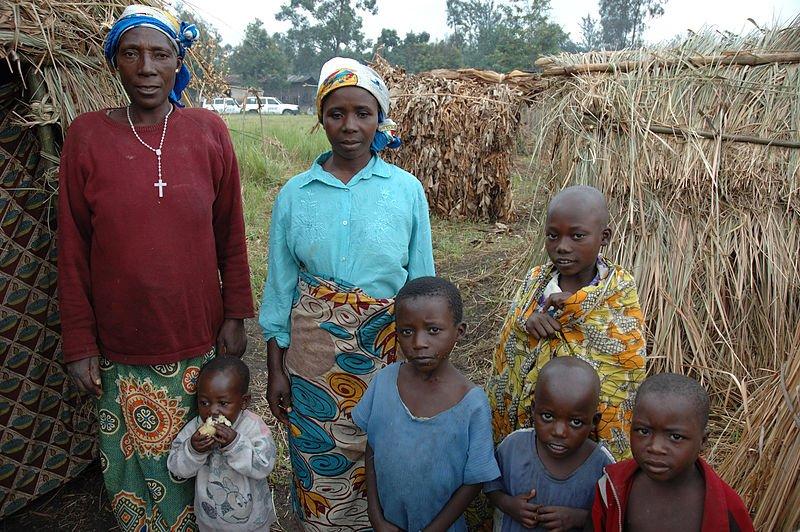 A family in Rutshuru, Congo