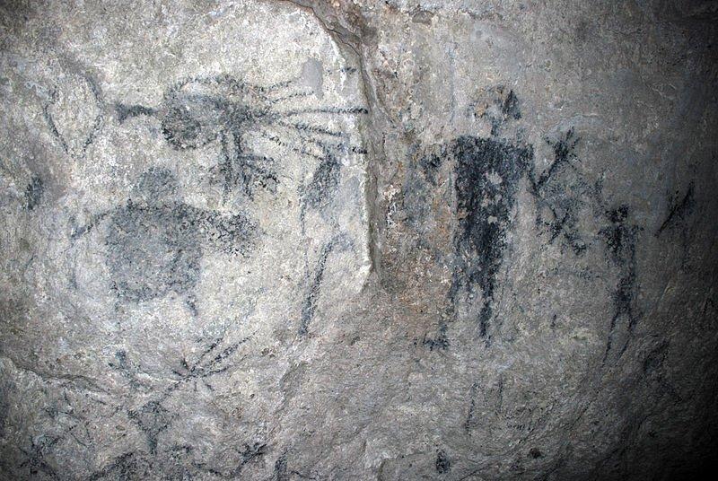 Cave drawings, Fels Cave, Lelepa Island, Vanuatu