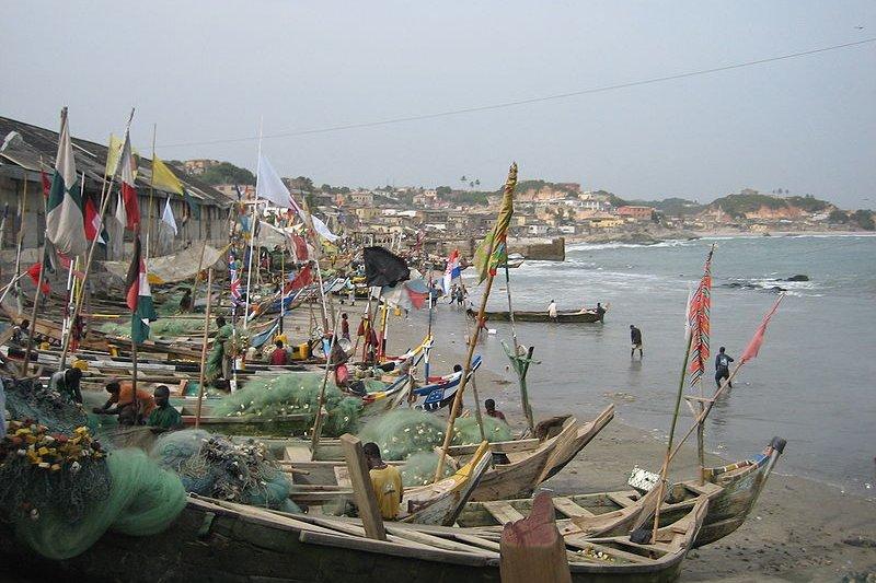 Fishing boats at Cape Coast, Ghana