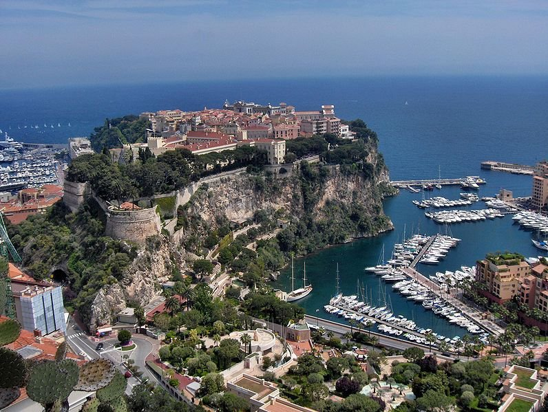 View of the Palace and harbour of Monaco