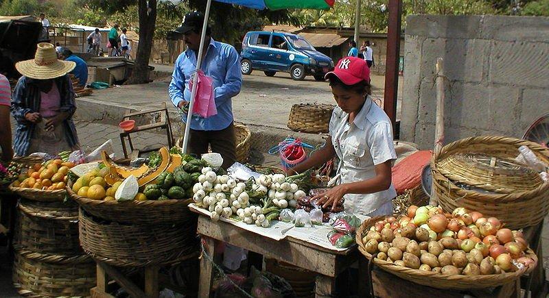 Fruit seller in Masaya, Nicaragua