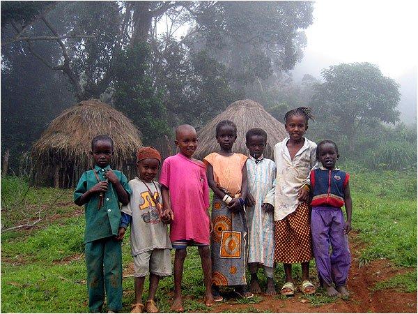 Fulani children of Doucky, Guinea