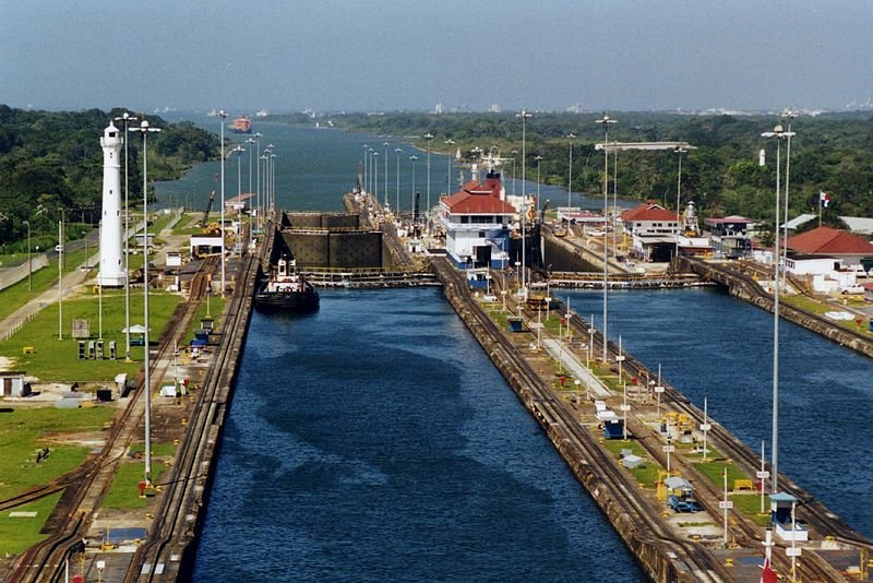Gatun Locks on the Panama Canal