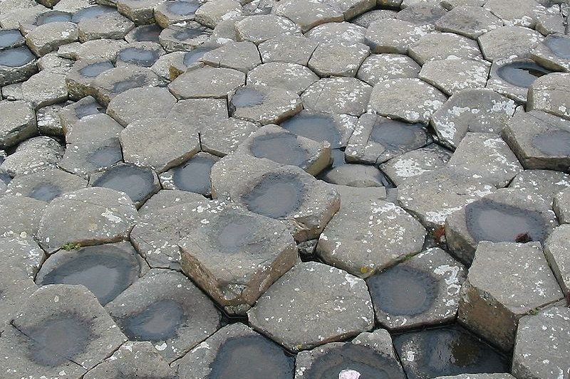 The basalt columns of the Giant's Causeway