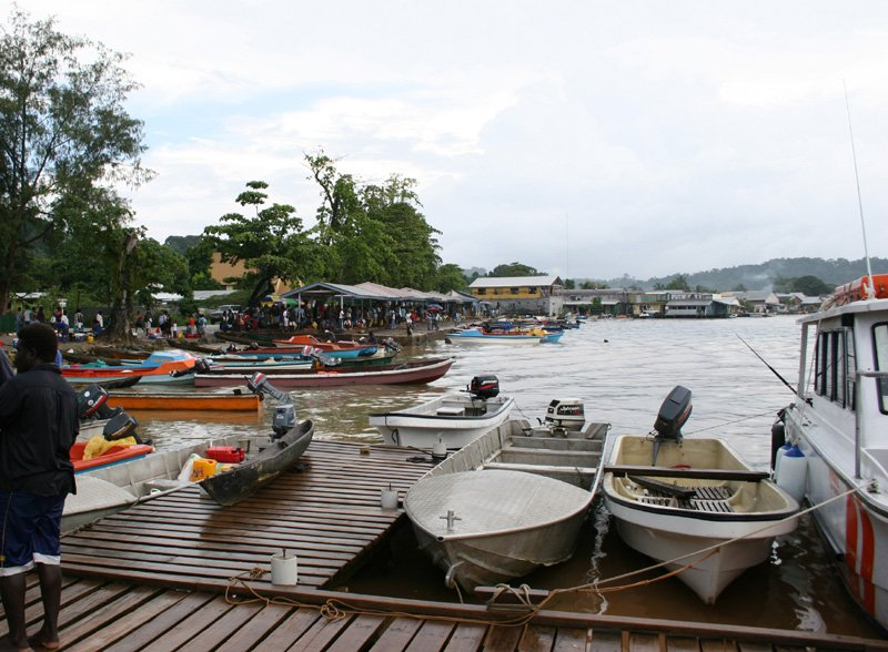 Gizo waterfront market place, Solomon Islands