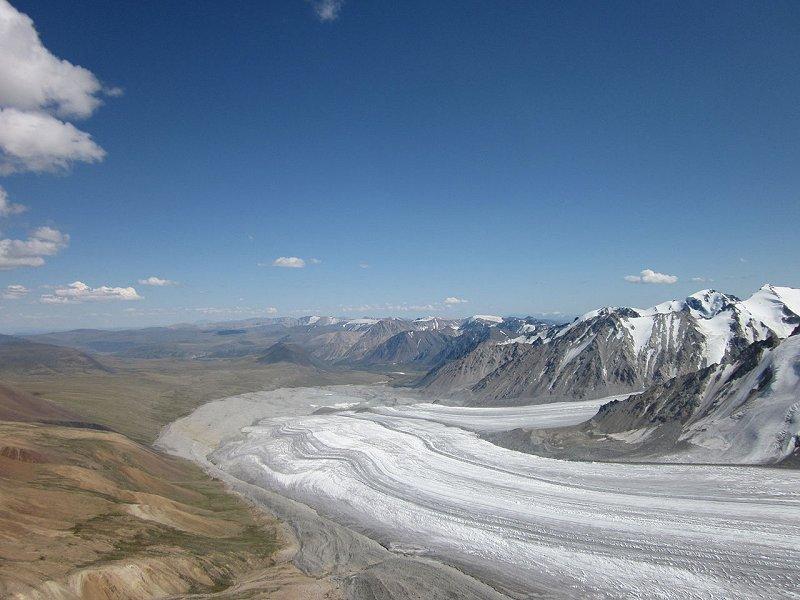 A glacier in Mongolia