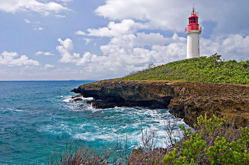 Gosier island lighthouse, Guadeloupe