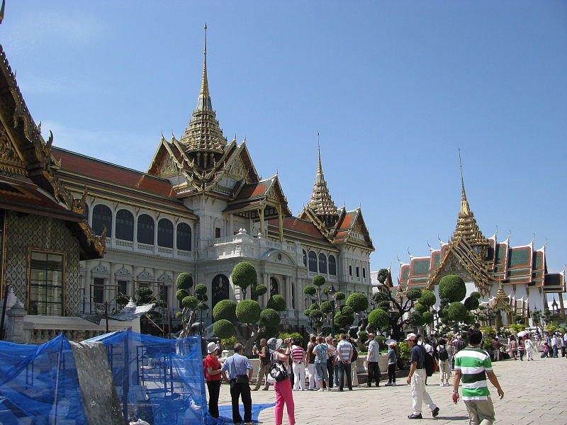 The Chakri Mahaprasat Palace, within the Grand Palace of Bangkok