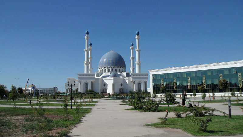 Gurbanhuly Hajy Mosque in Mary, Turkmenistan