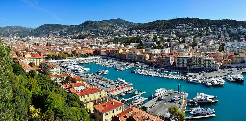 Harbour of Nice, France