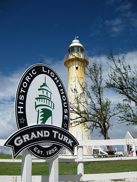 The historic lighthouse on Grand Turk Island