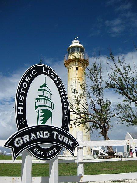 The historic lighthouse on Grand Turk Island