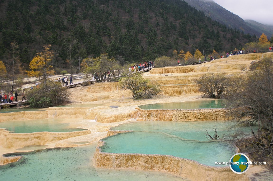 Pools form at Huanglong