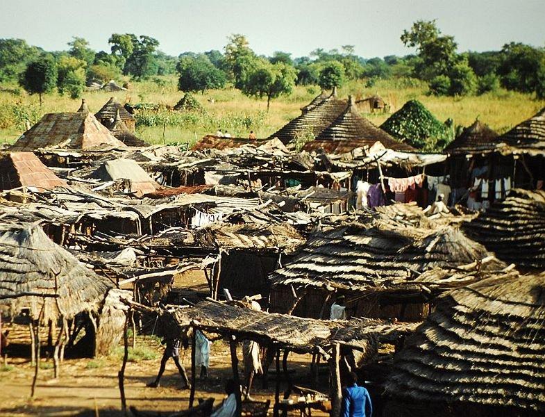 Huts outside Wau, South Sudan