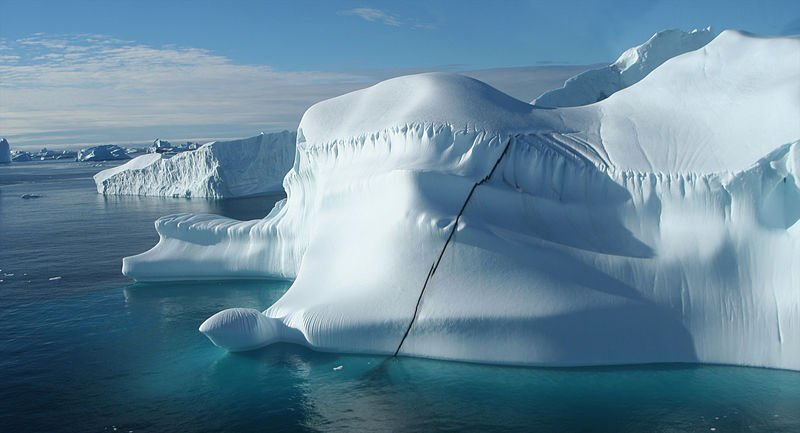 Close-up of iceberg in Cape York