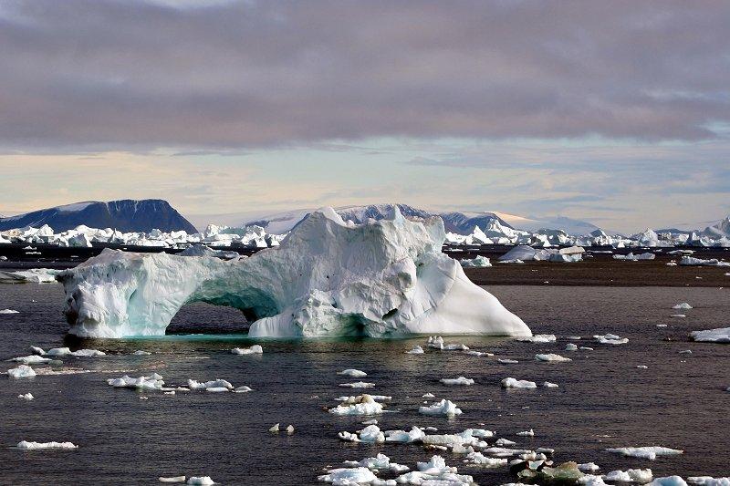 Icebergs in Cape York, Greenland