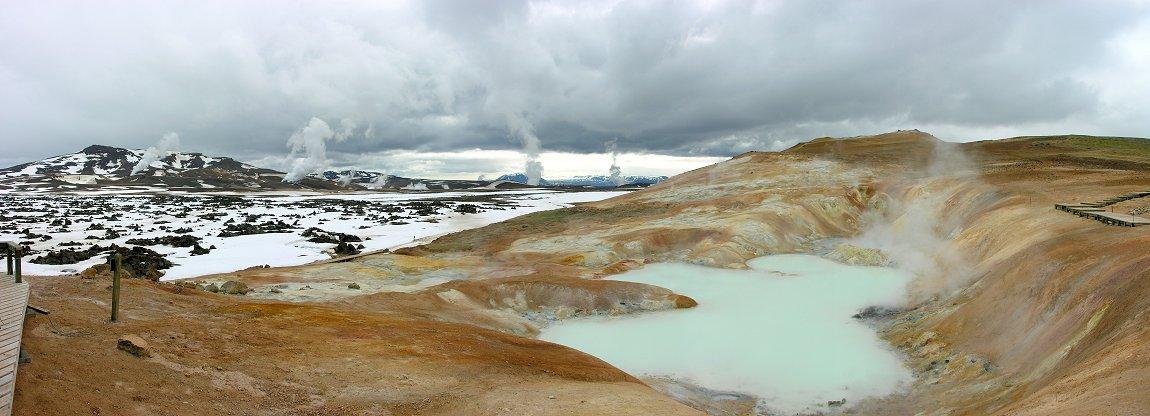 Krafla seen from Leirhnjúkur, Iceland