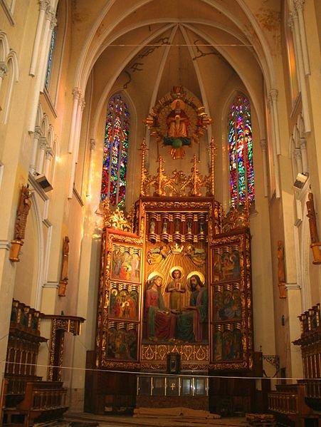 Interior of Częstochowa Cathedral, Poland