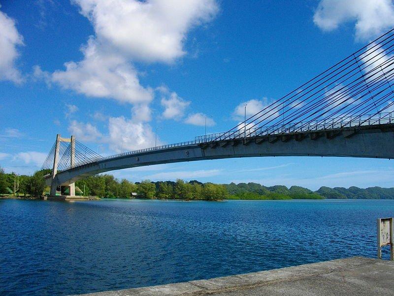 The Japan-Palau Friendship Bridge between Koror and Babeldaob, Palau