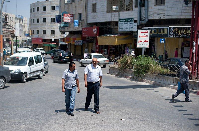 Street in Jenin on the West Bank