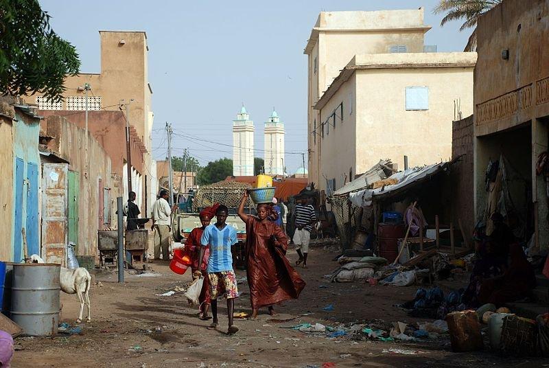 Kaédi market street, Mauritania