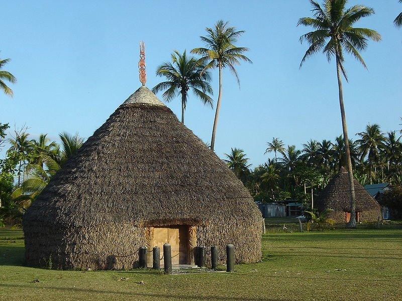 Kanak hut in Lifou, New Caledonia