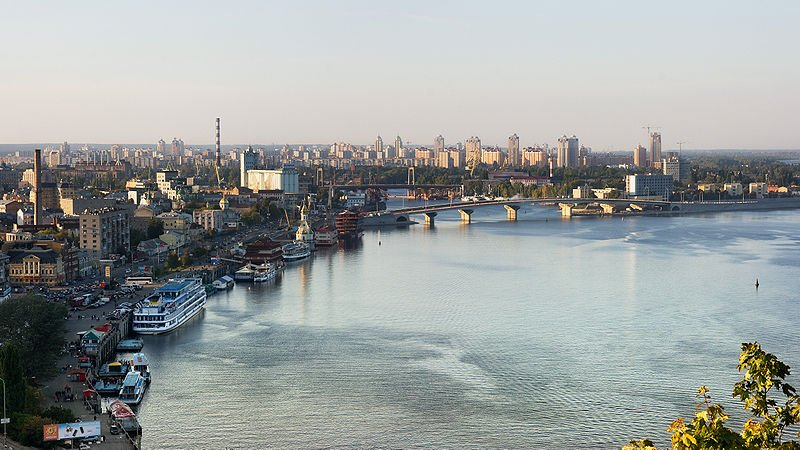 View of Kiev from Dniepr River