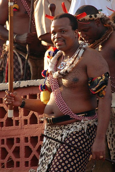 King Mswati III of Swaziland at the Reed Dance Festival of 2006