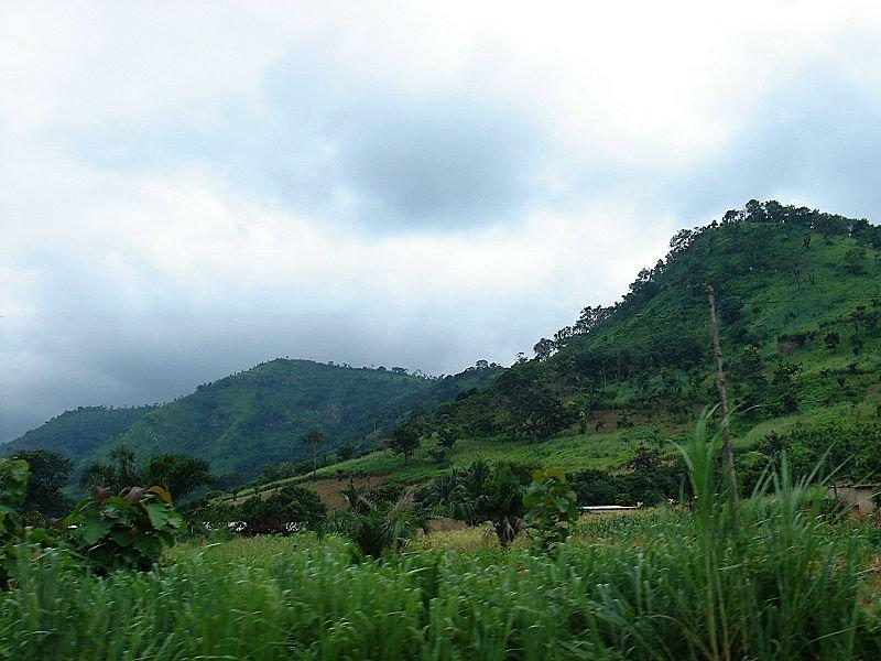 Landscape near Kpalimé, Togo