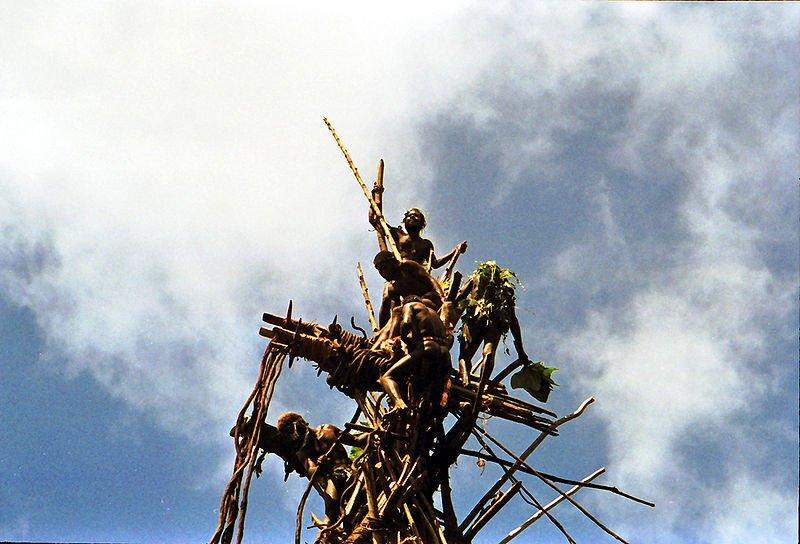 Landdiving ritual by Pentecost Islanders, Vanuatu