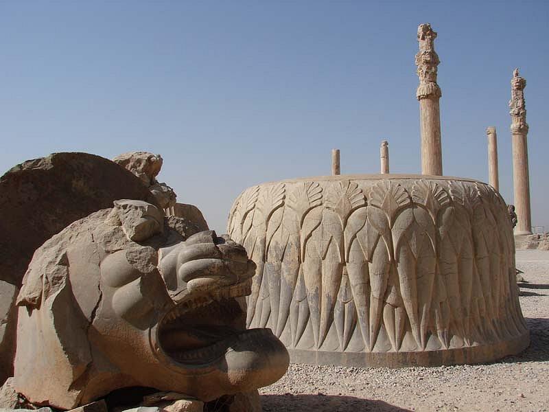 Lion sculpture at Persepolis, Iran