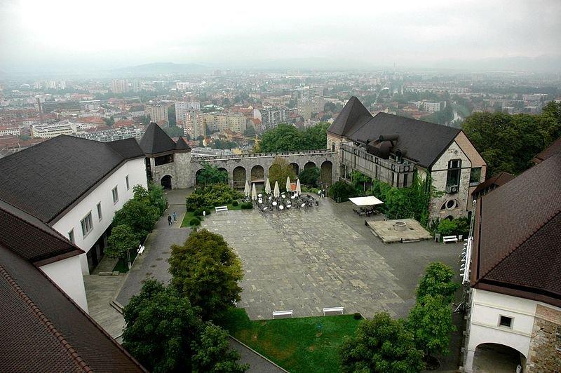Panoramic view of Ljubljana from Ljubljana Castle