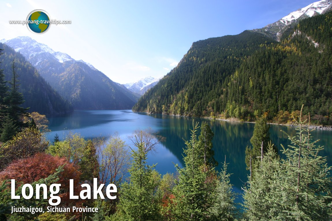Long Lake in Jiuzhaigou, Sichuan Province